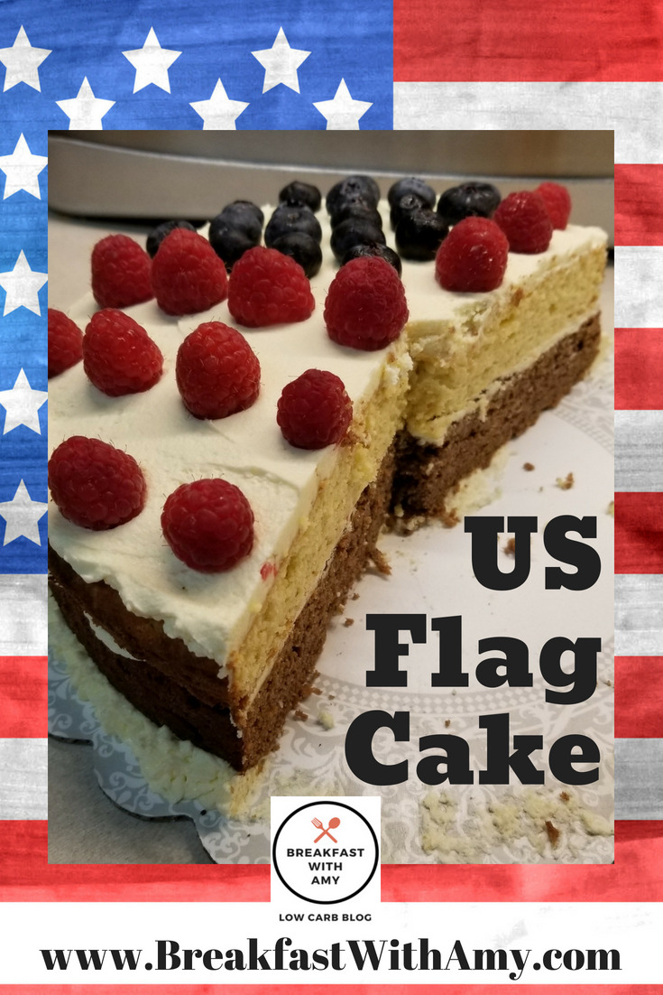 Low Carb Keto Friendly American Flag Cake Yep